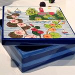 Handpainted Ceramic Keepsake or Jewelry Box