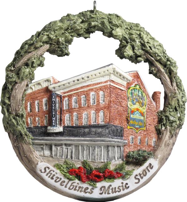 Cape Girardeau ornament #20 - Shivelbines Music Store